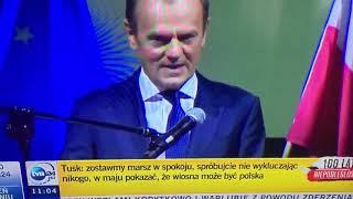 Donald Tusk  na Igrzyskach Wolności apeluje do nas.