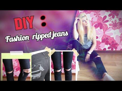 DIУ: Модные рваные джинсы ✤✤✤ Fаshiоn riрреd jеаns ✤✤✤ Gомеl - DomaVideo.Ru