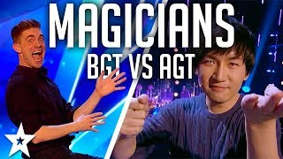 Video Top 10 BEST Magicians 2017 | AGT vs BGT on Got Talent Global MP3, 3GP, MP4, WEBM, AVI, FLV Maret 2019