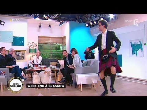 Quand le présentateur de La Quotidienne teste le kilt traditionnel écossais