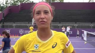 Paula Gonçalves participa do Kids Day do Brasil Tennis Cup 2014