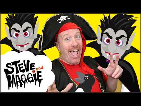 New Halloween Haunted House Spooky Party for Kids from Steve and Maggie | Wow English TV