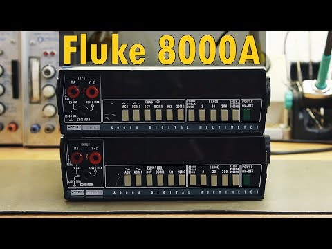 Ein Blick ins Innere: Fluke 8000A