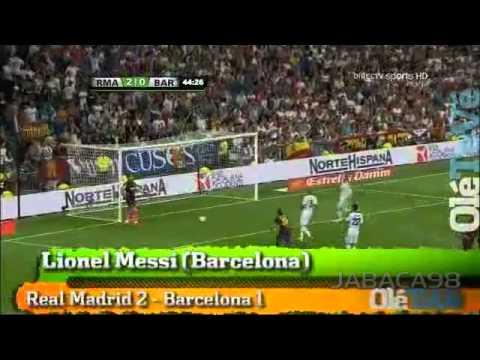 Golazo de Tiro Libre de Messi - Real Madrid vs Barcelona - 29/08/2012 - HD -