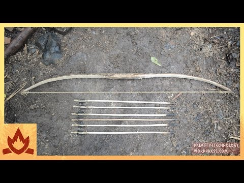 Man Makes Traditional Bow And Arrow Using Only Natural