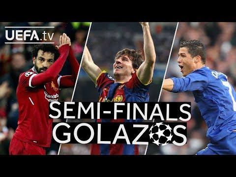 SALAH, MESSI, RONALDO: Great #UCL Semi-finals GOALS!!