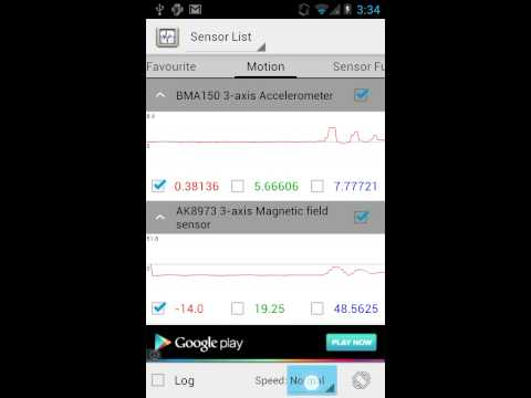 Video of Sensor List
