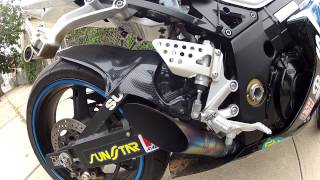 4. 04 GSXR 1000 MAT MLADIN EDITION RACE FIT GROWLER EXHAUST, TITANIUM HEADERS