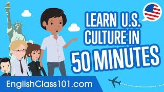This is the best video to get started with U.S. culture and English basics! And if you want to study more, click here https://goo.gl/bfvrLD and get the best resources to learn in the most efficient way. ↓ More details below ↓Step 1: Go to https://goo.gl/bfvrLDStep 2: Sign up for a Free Lifetime Account - No money, No credit card requiredStep 3: Achieve Your Learning Goal and master English the fast, fun and easy way! In this video you will learn more about U.S. culture!  This is THE place to start if you want to start learning English, master both reading & writing and to gain cultural insights.Follow and write to us using hashtag #EnglishClass101 - Facebook : https://www.facebook.com/EnglishClass101 - Google Plus : https://plus.google.com/+EnglishClass101 - Twitter : https://twitter.com/EnglishClass101