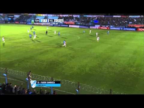 Gol de Sambueza. Temperley 2 Vélez 1.Fecha 19. Torneo Primera División 2015.FPT