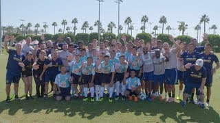Thai Soccer Team Practices with the L.A. Galaxy