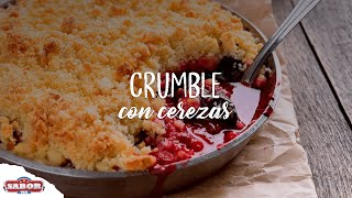 Crumble con cerezas de Michigan
