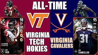 All-Time Virginia Tech Hokies + Virginia Cavaliers Team - Mike Vick and Kam Chancellor! - Madden 17