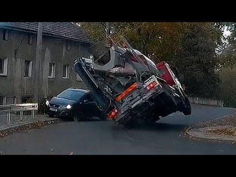 Oszukać przeznaczenie – betoniarka prawie zmiażdżyła samochód
