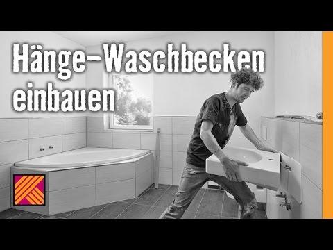 Version 2013 Waschbecken montieren: Hänge-Waschbecken einbauen | HORNBACH Meisterschmiede