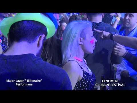"Major Lazer ""  Jillionaire "" Fenomen Clubbin' Festival Performansı"