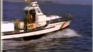 U. S. Coast Guard National Motor Lifeboat School, Cape Disappointment WA, early/mid 80s. Recovered the NatGeo segment from a 30 year-old VHS tape.