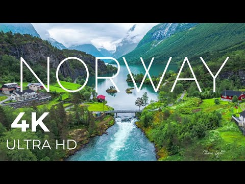 Norway AMAZING Beautiful Nature with Relaxing Music and sound, 4k Ultra HD | Europe beautiful