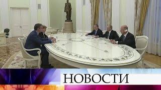 Владимир Путин встретился спремьер-министром Сербии Александром Вучичем.
