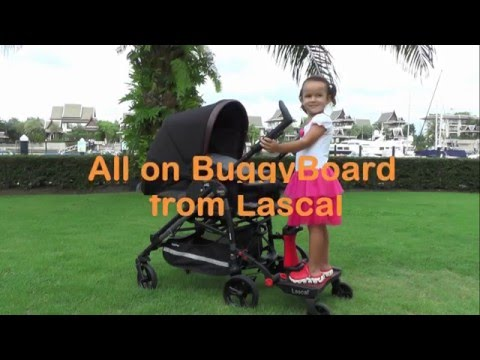Introducing the Lascal BuggyBoard Saddle - Add an extra seat to your pushchair!