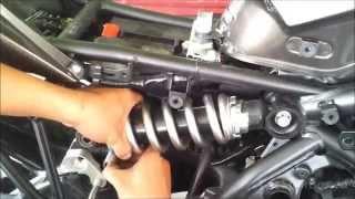 9. Kawasaki Versys Motowerk lowering kit installation