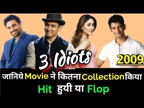 Aamir Khan 3 IDIOTS 2009 Bollywood Movie LifeTime WorldWide Box Office Collection