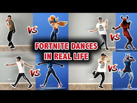 LEARN THESE FORTNITE DANCES IN REAL LIFE (Scenario, Clean Groove, Crackdown and many more!)
