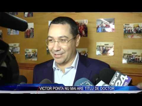 VICTOR PONTA NU MAI ARE TITLU DE DOCTOR