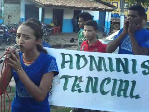 GREVE PROF. SAO DOMINGOS DO ARAGUAIA Protesto Mycaellen aluna 2º ano