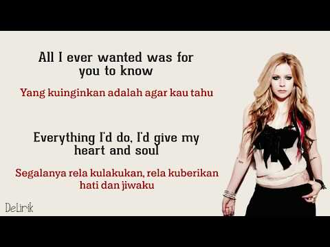 When You're Gone - Avril Lavigne (Lyrics video dan terjemahan)