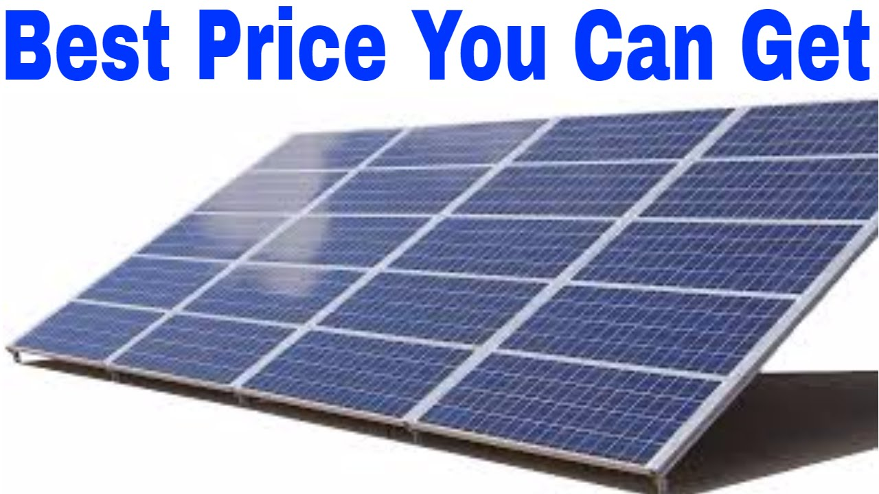 Buyer's guide for solar panels 2017 it's the good stuff for cheap.