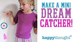 Make a Mini Dreamcatcher and have sweet dreams every night! - YouTube