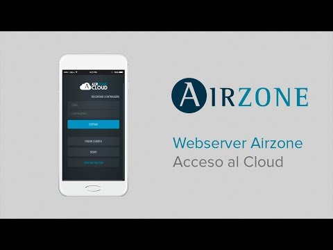 Webserver Airzone Cloud: acceso al Cloud