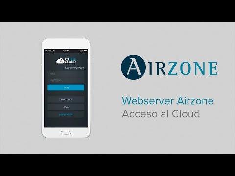 Webserver Airzone Cloud: acceso al Cloud