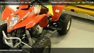 8. 2012 KYMCO Mongoose 300 RWD w/reverse - for sale in VANCOUVER, WA 98665