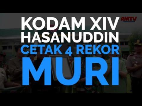 Kodam XIV Hasanuddin Cetak 4 Rekor MURI