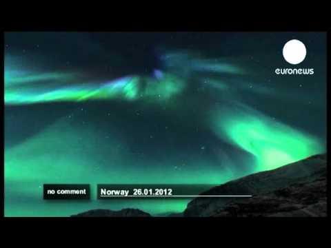 الشفق القطبي في سماء النرويج