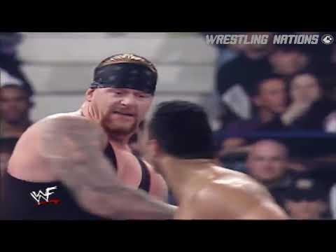 The Undertaker Stone Cold Steve Austin The Rock vs Rikishi Kane cart angle SG referee Tripl h part2
