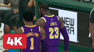NBA 2K19: Bucks vs. Lakers Gameplay (FULL QUARTER OF XBOX ONE X IN 4K)