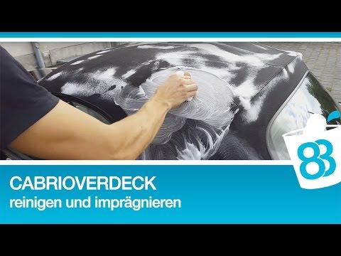 Cabrioverdeck reinigen und imprägnieren 83metoo - Cabrio Stoffdach Verdeck pflegen