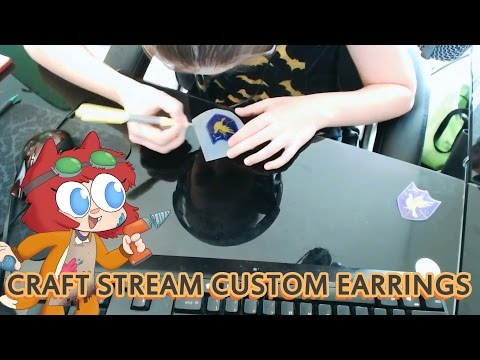 STREAM - TO CATCH THE STREAMS LIVE, FOLLOW: http://www.twitch.tv/dexteritybonus SUBSCRIBE!: http://bit.ly/1zemKAl YOU WILL NEED: -Shrink Plastic: http://amzn.to/1zf4XIz -Sharpies -Scissors -Earring...