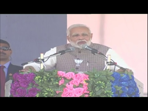 PM Shri Narendra Modi addresses public meeting in Sumerpur, Rajasthan 5.12.2018