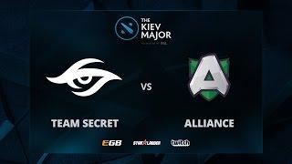 Alliance vs Secret, Game 1, The Kiev Major EU Main Qualifiers