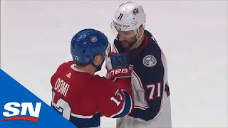 Marcus Foligno & Max Domi Have Pleasant Conversation Before Dropping The Gloves by Sportsnet Canada