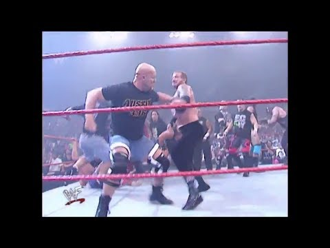 Stone Cold returns and help Team WWF from Team Alliance -RAW IS WAR