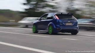 TUNED 2010 Ford Focus RS w/ MILTEK Exhaust - Backfire, LOUD sound! - 1080p HD