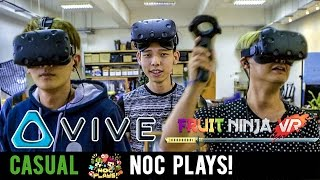 Video NOC Plays Fruit Ninja! (HTC Vive) MP3, 3GP, MP4, WEBM, AVI, FLV Maret 2019