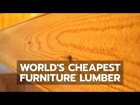 WOODWORKING: World's Cheapest Furniture Lumber [03:58]