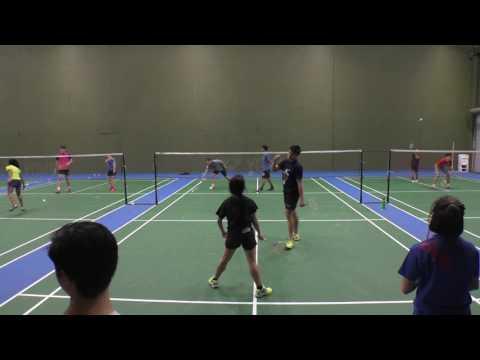 Tony Gunawan Indonesia Vs Juniors At SMASH Badminton San Diego 9586 Distribution Ave Suite E CA 92121