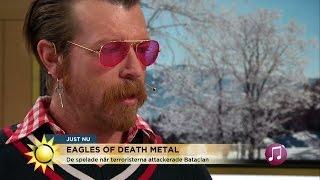 Känslosam Jesse Hughes berättar om den fruktansvärda kvällen - Nyhetsmorgon (TV4)